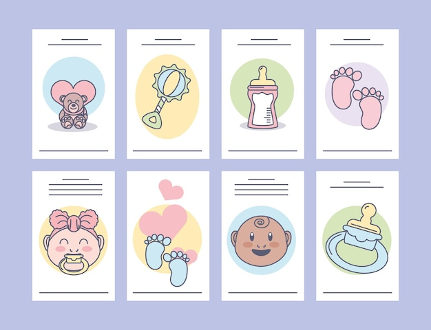 Set babykaarten