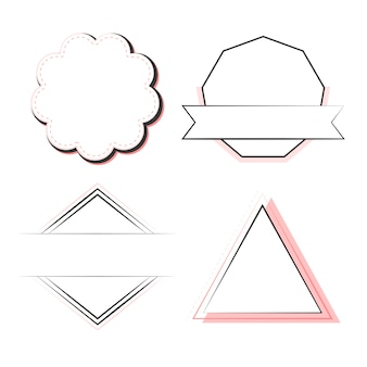 Set badges en emblemen vector