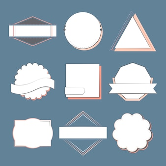 Set badges en emblemen vector