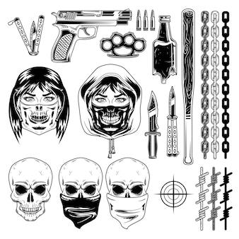 Set bandietelementen