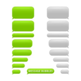 Set bericht bubbels. chat tekstballonnen.