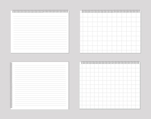 Set blocnotes en vellen papier