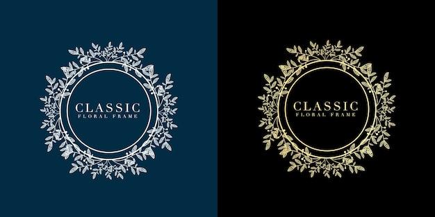Set bloeien kalligrafische vintage luxe retro stijl gouden sieraad swirl frames sierlijke gouden rand kunst elegant decor voor titel en tekstboekregel