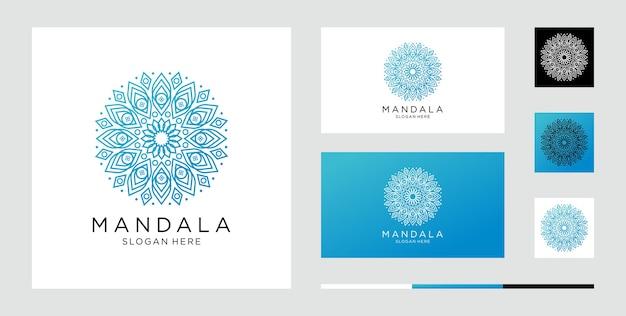 Set bloem mandala abstract symbool in decoratieve arabische stijl