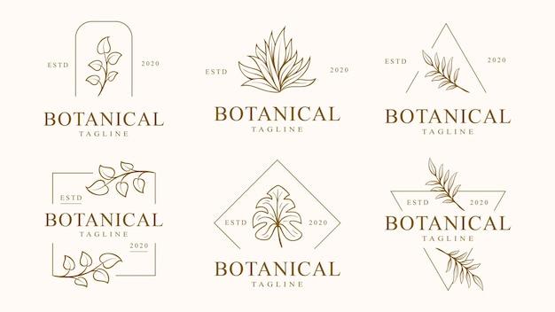 Set bloemen logo sjabloon