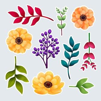 Set botanische stickers