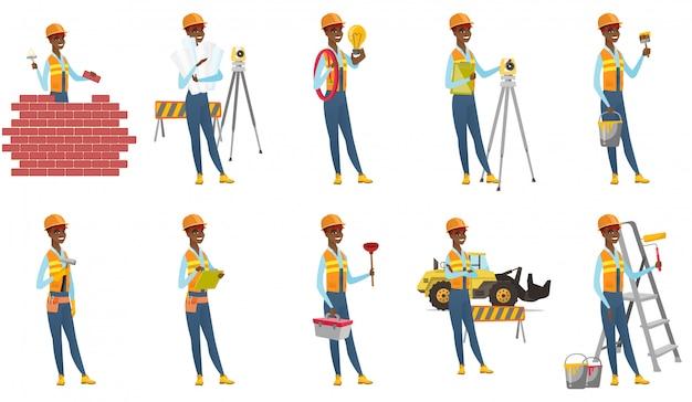 Set bouwer karakters.