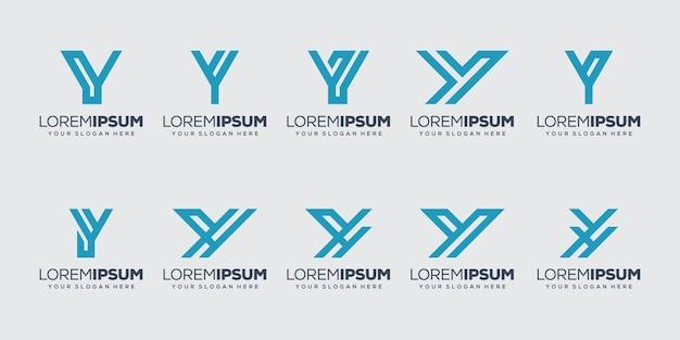 Set bundel beginletter y logo sjabloon
