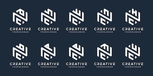 Set bundel letter c logo-ontwerp