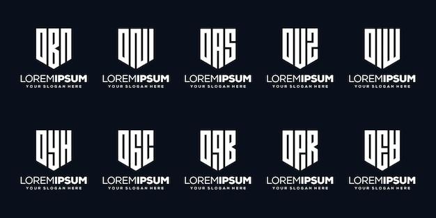 Set bundel letter j logo-ontwerp