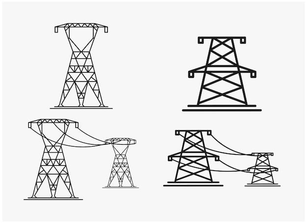 Set bundel lineart logo ontwerp inspiratie