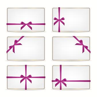 Set cadeaubonnen met linten.