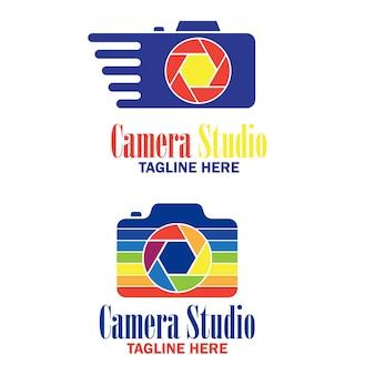 Set camera logo voor fotografie bedrijf