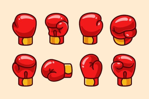 Set cartoon bokshandschoenen