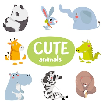 Set cartoon dieren