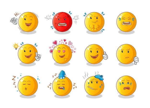 Set cartoon emoticon