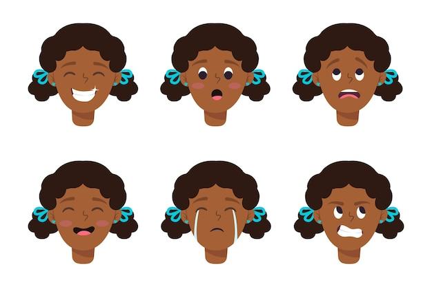 Set cartoon gezichten