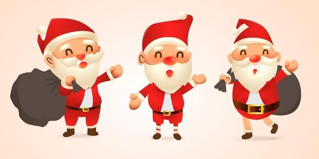 Set cartoon kerstillustraties