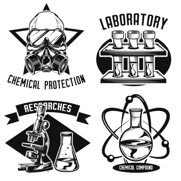 Set chemie emblemen