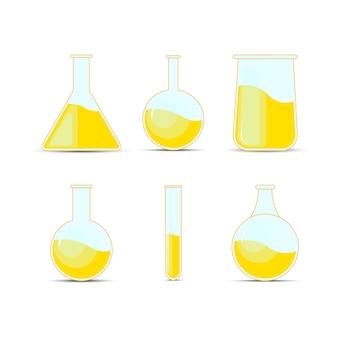 Set chemische kolf, flessen, drankjes
