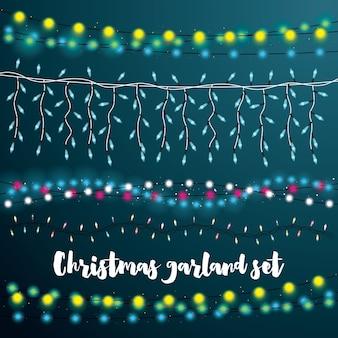 Set christmas string lights