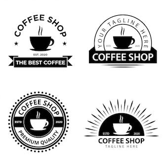 Set coffeeshop logo sjablonen