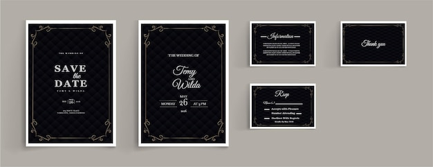 Set collectie luxe bruiloft briefpapier