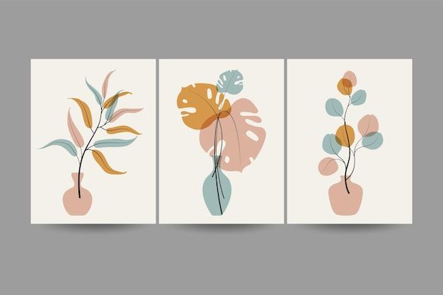 Set composities met bladerenontwerp