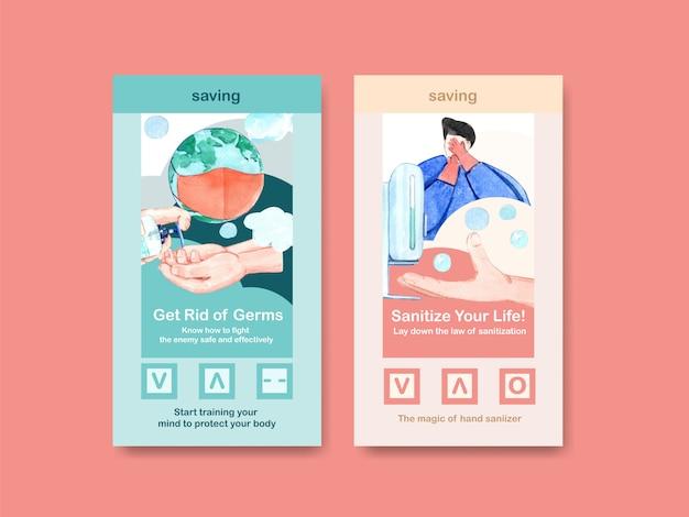 Set coronavirus flyers