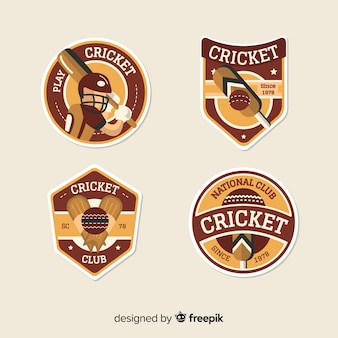 Set cricket etiketten