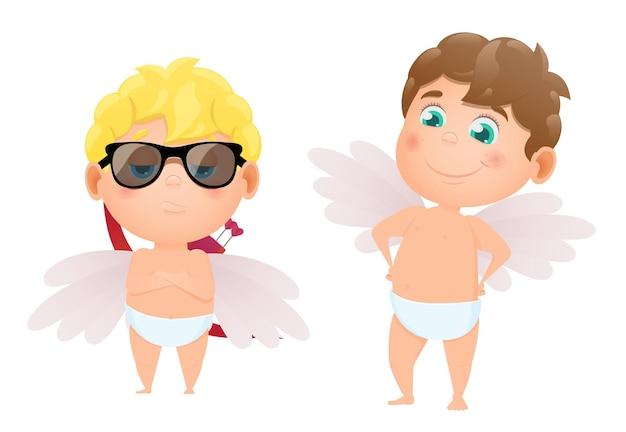 Set cupido's van engelen voor valentijnsdag