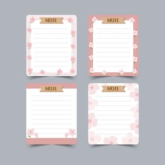 Set dagboekplanners en takenlijsten. planners, checklists. geïsoleerd. illustratie.