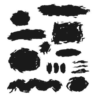 Set decoratieve borstelvormen