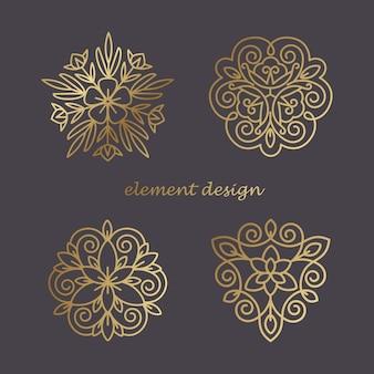 Set decoratieve elementen.