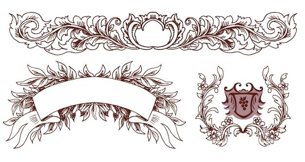 Set decoratieve elementen