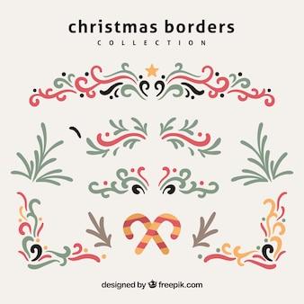 Set decoratieve kerst randen