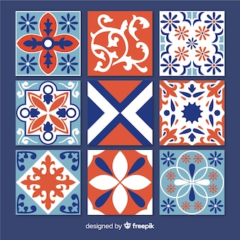 Set decoratieve tegels