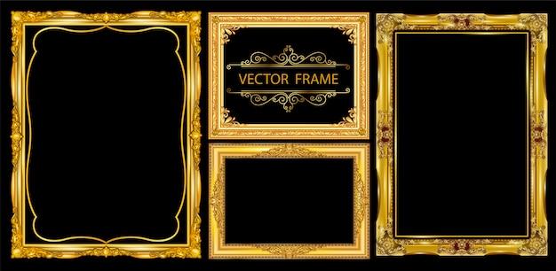 Set decoratieve vintage frames instellen