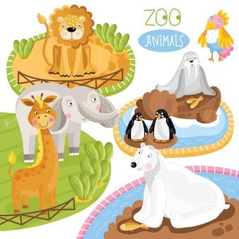 Set dierentuin dieren.