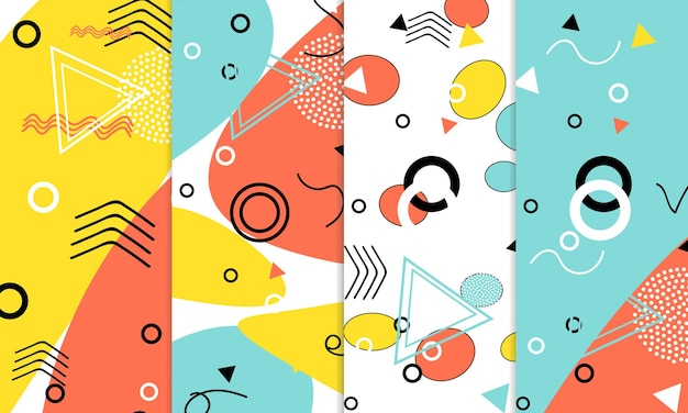 Set doodle leuke patronen.