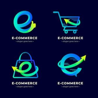 Set e-commerce logo sjablonen