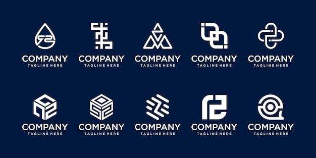 Set eerste letter z logo sjabloon