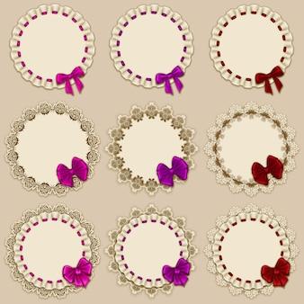 Set elegante sjablonen frame ontwerp