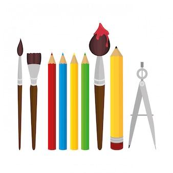 Set elementen schooltol ontwerp