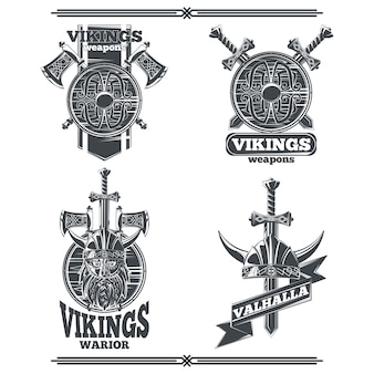 Set emblemen van viking