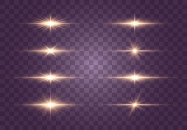 Set flitsen, lichten en fonkelingen