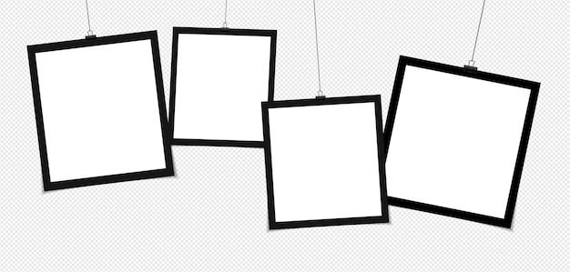 Set fotolijstjes geïsoleerd op grijs