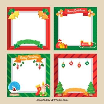 Set frames met kerst elementen