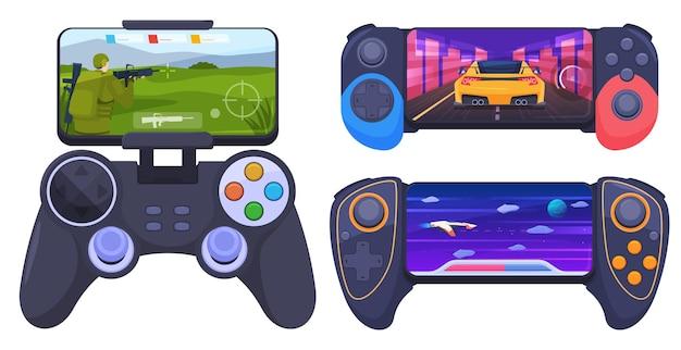 Set gamepads voor games op een smartphone