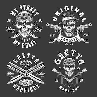 Set gangster emblemen
